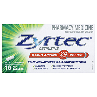Image for Zyrtec 10mg - 10 Tablets from Amcal