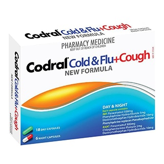 Image for Codral PE Cold & Flu Cough - 24 Capsules from Amcal