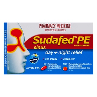 Image for Sudafed Pe Sinus Day And Night Relief - 48 Tablets from Amcal