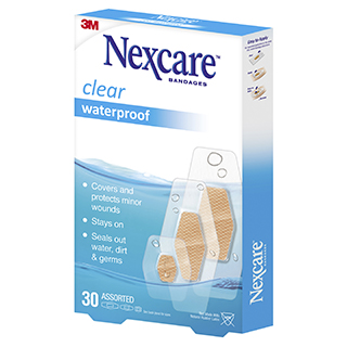 Image for Nexcare Waterproof Assorted - 30 Pack from Amcal