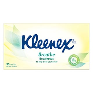 Image for Kleenex Eucalyptus & Aloe Vera Facial Tissues - 95 Pack from Amcal