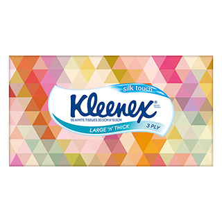 Image for Kleenex Silk Touch Large 'n' Thick Tissues - 95 Pack from Amcal