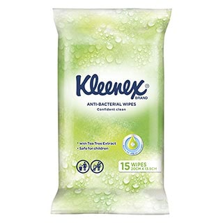 Image for Kleenex Anti Bacterial Wet Wipes - 15 Pack from Amcal