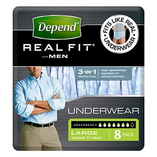 Image for Depend Real-Fit Underwear For Men Large - 8 Pack from Amcal