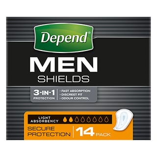 Image for Depend for Men Shields - 14 Pack from Amcal