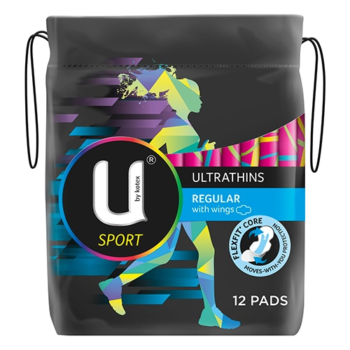 Image for U by Kotex Sport Regular Ultrathin Pads Wings - 12 Pack from Amcal