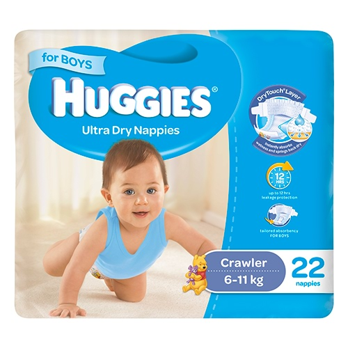 Image for Huggies Crawler Boy - 22 Pack from Amcal