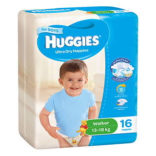 Image for Huggies Walker Boy - 16 Pack from Amcal