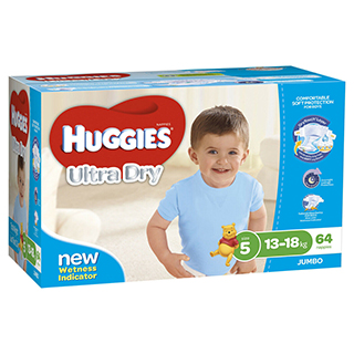 Image for Huggies Ultra Dry Nappies Walker 13-18Kg 64 Pack from Amcal