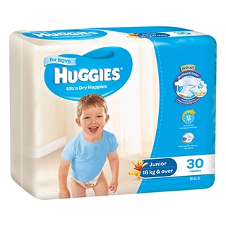 Image for Huggies Ultra Dry Nappies Junior Boy - 30 Pack from Amcal