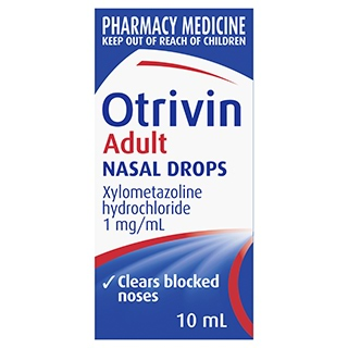 Image for Otrivin Nasal/Drops Adult - 10mL from Amcal