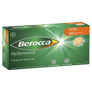 Image for Berocca Energy Vitamin Orange Effervescent Tablets 30 pack from Amcal