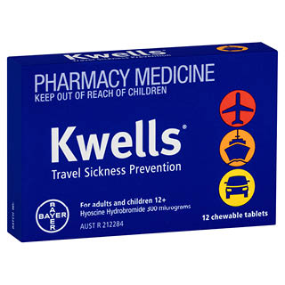 Image for Kwells Travel Sickness 12 Chewable Tablets from Amcal
