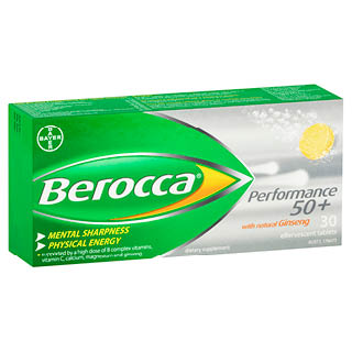 Image for Berocca Performance 50+ Effervescent - 30 Tablets from Amcal