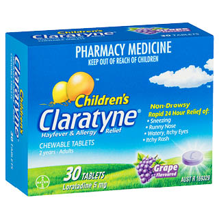 Image for Claratyne Child Hayfever & Allergy Relief Antihistamine Grape 30 Tabs from Amcal