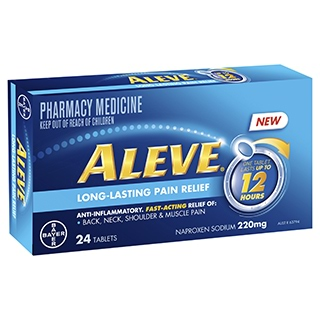 Image for Aleve Long Lasting Pain Relief - 24 Tablets from Amcal