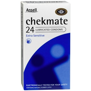 Image for Ansell Chekmate Condoms Lubricated - 24 Pack from Amcal