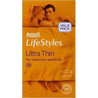 Image for Ansell Lifestyles Condoms Ultrathin - 24 Pack from Amcal