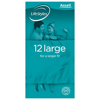 Image for Ansell LifeStyles Condom Large - 12 Pack from Amcal