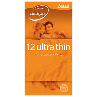 Image for Ansell LifeStyles Condom Ultrathin - 12 Pack from Amcal