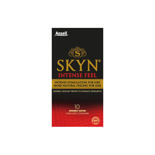 NEW Ansell Lifestyles Condoms Skyn Intense Feel 10 Pack Sexual Wellness Condoms