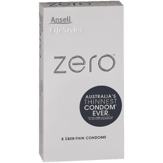 Image for Ansell Lifestyles Condoms ZERO Uber-Thins - 8 Pack from Amcal