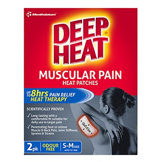 Image for Deep Heat Odourless Patches Regular - 2 Pack from Amcal