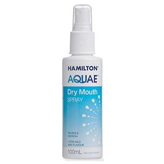 Image for Hamilton Aquae Dry Mouth Spray - 100ml from Amcal