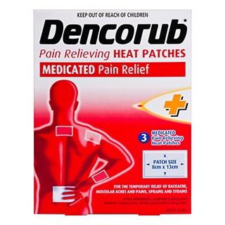 Image for Dencorub Pain Relief Heat Patches - 3 Pack from Amcal