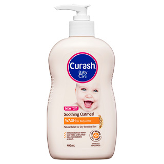Image for Curash Babycare Oatmeal Wash - 400mL from Amcal
