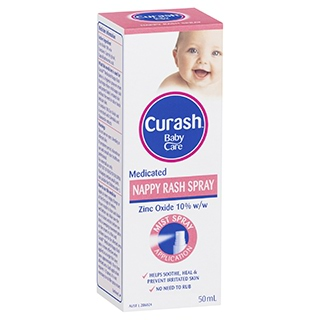 Image for Curash Baby Care Medicated Nappy Rash Spray - 50mL from Amcal