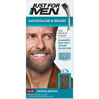 Just for Men Brush-In Colour Gel Moustache & Beard - Medium Brown ...