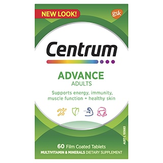 Image for Centrum Advance For Adults Tablets - 60 Pack from Amcal