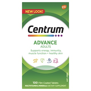 Image for Centrum Advance - 100 Tablets from Amcal