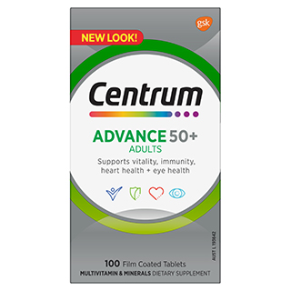 Image for Centrum Advance 50+ - 100 Tablets from Amcal