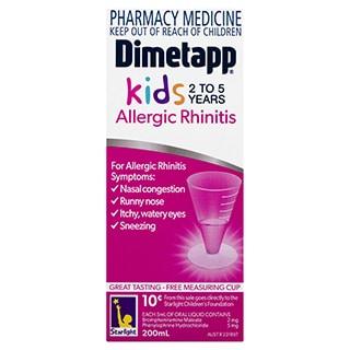 Dimetapp Allergic Rhinitis - Kids 2 - 5 years - 200mL