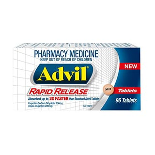 Image for Advil Rapid Release Tablets - 96 Pack from Amcal