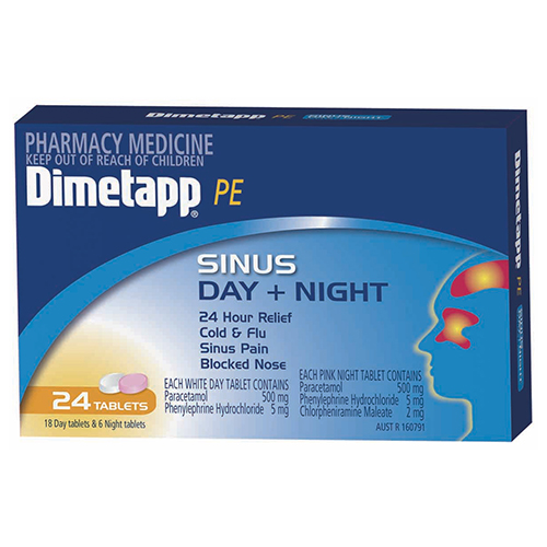 Image for Dimetapp Pe Sinus Day/Night - 24 Tablets from Amcal