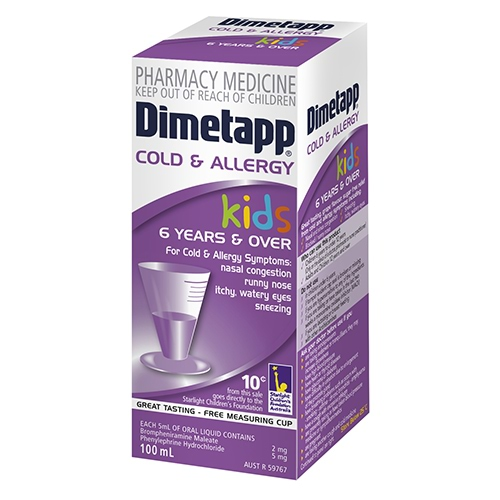 Image for Dimetapp Elixir - 100ml from Amcal