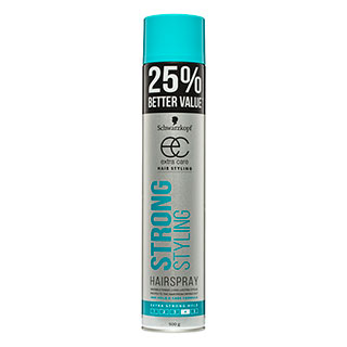 Image for Schwarzkopf Extra Care Strong Styling Hairspray Bonus Value - 500g from Amcal