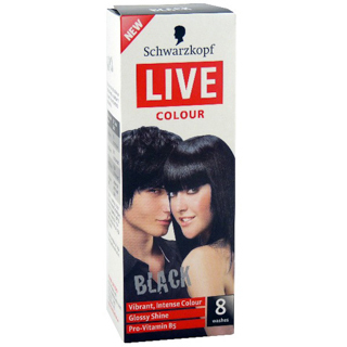 Image for Schwarzkopf Live Colour Black Hair Colour from Amcal