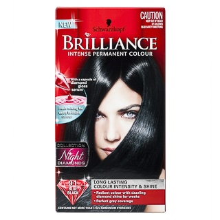 Image for Schwarzkopf Live Brilliance 91 Blue Black Hair Colour from Amcal