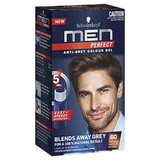 Image for Schwarzkopf Men Perfect - 60 Natural Medium Brown Hair Colour from Amcal
