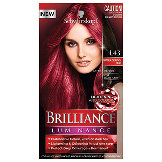Image for Schwarzkopf Live Brilliance Luminance L43 Smouldering Red Hair Colour from Amcal