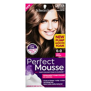Image for Schwarzkopf Perfect Mousse Light Brown 6-0 Hair Colour - 170mL from Amcal