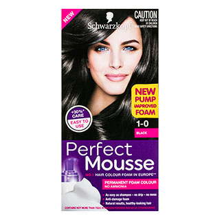 Image for Schwarzkopf Perfect Mousse Black 1-0 Hair Colour - 170mL from Amcal