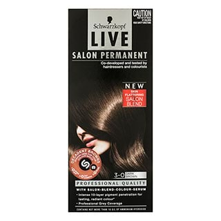 Image for Schwarzkopf Live Salon 3. 0 Dark Brown Hair Colour from Amcal