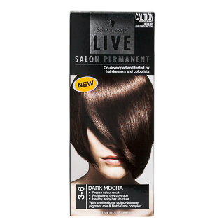 Image for Schwarzkopf Live Salon 3. 6 Dark Mocha Hair Colour from Amcal