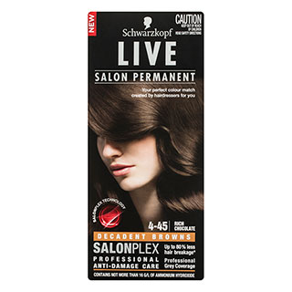 Image for Schwarzkopf Live Salon 4. 45 Rich Chocolate Hair Colour from Amcal