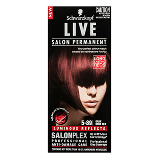 Image for Schwarzkopf Live Salon 5. 89 Dark Ruby Red Hair Colour from Amcal